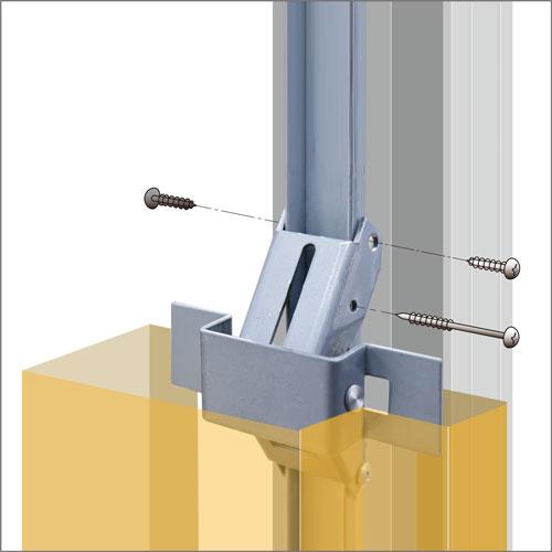ドア枠無溶接工法|スマートアンカー
