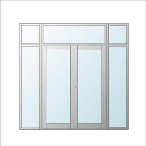 低膨張防火ガラス入り特定防火設備|エリファイト(ステンレスタイプ)